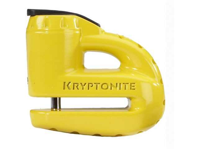 KRYPTONITE Keeper 5-S disc lock - with reminder cable - yellow click to zoom image