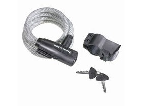 KRYPTONITE Keeper 1018 Key cable - coiled - with bracket (10 mm x 180 cm)