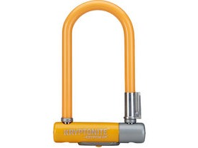 KRYPTONITE Kryptolok Mini 7- With Flexframe U-Bracket - Orange Sold Secure Silver