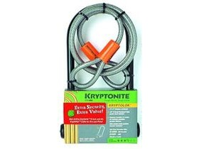 KRYPTONITE KRYPTOLOK SERIES 2 STD U-LOCK & 4 FOOT FLEX CABLE