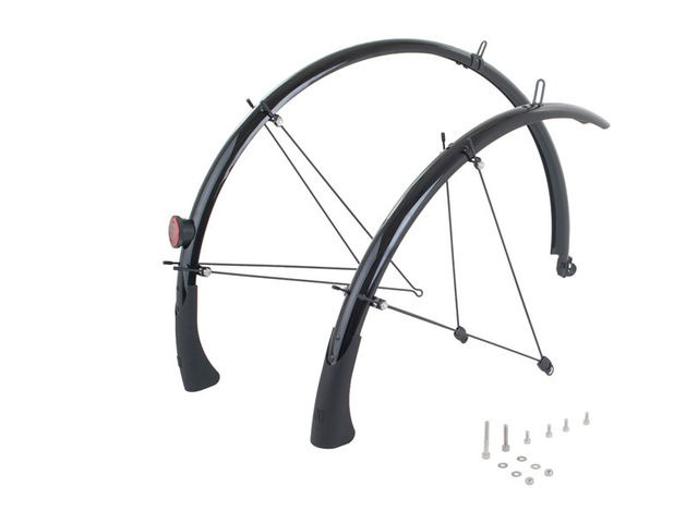 M-PART Primo full length mudguards 700 x 68mm black click to zoom image
