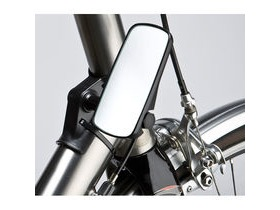 M-PART Adjustable mirror for head tube fitment, wide, black