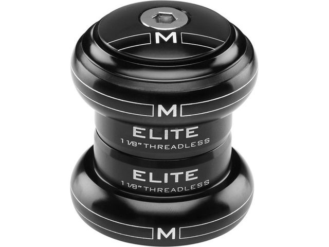 "M-PART Elite black threadless headset 1-1/8"" click to zoom image"