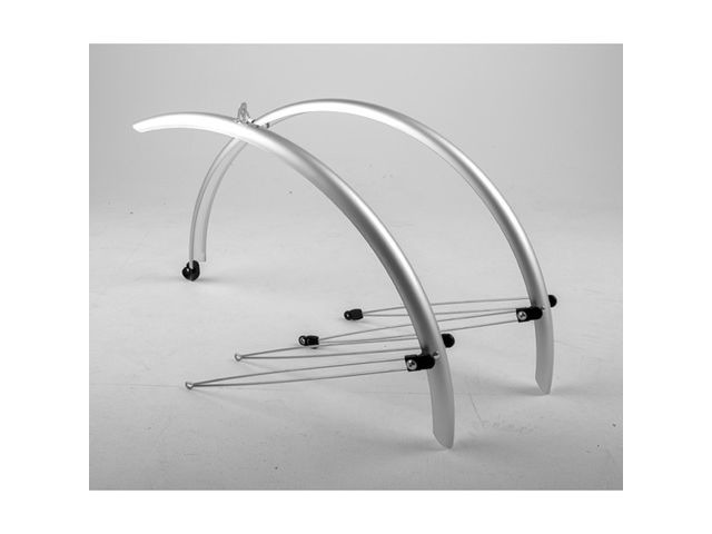 M-PART Commute full length mudguards 700 x 46mm silver click to zoom image