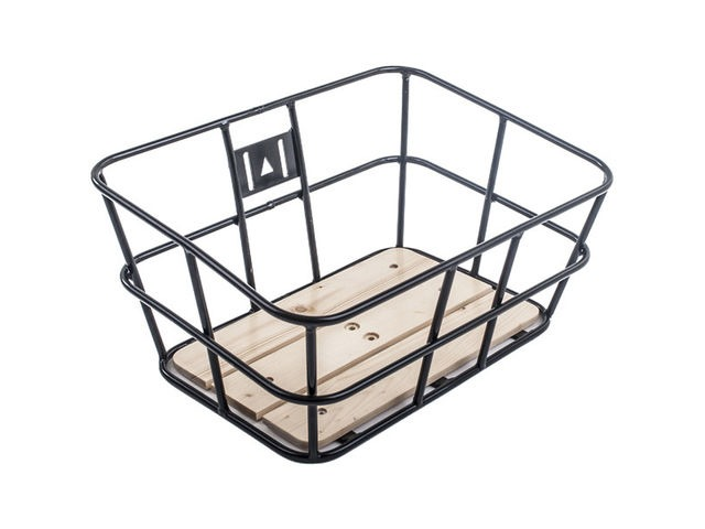 M-PART Portland ubular metal basket with wooden base click to zoom image