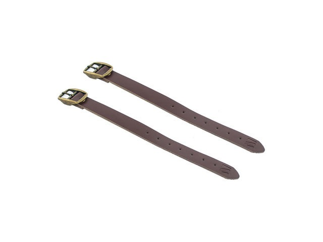 M-PART Leather basket straps, high quality, universal fit Brown click to zoom image